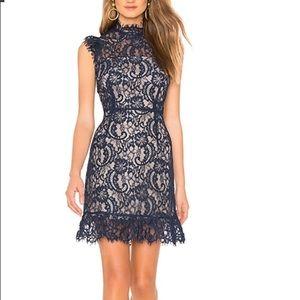 AIJEK Lace Dress Navy Blue